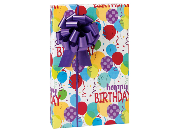 """Happy Birthday Bash Wrapping Paper 24""""x85' Cutter Roll"""