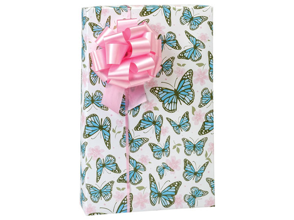 "Butterfly Garden Wrapping Paper 24""x85' Cutter Roll"