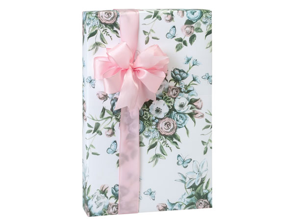 """Butterfly Bouquet Wrapping Paper 24""""x417' Counter Roll"""
