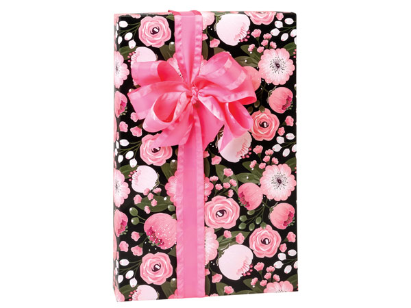 Moonlit Blooms Premium Recycled Gift Wrap