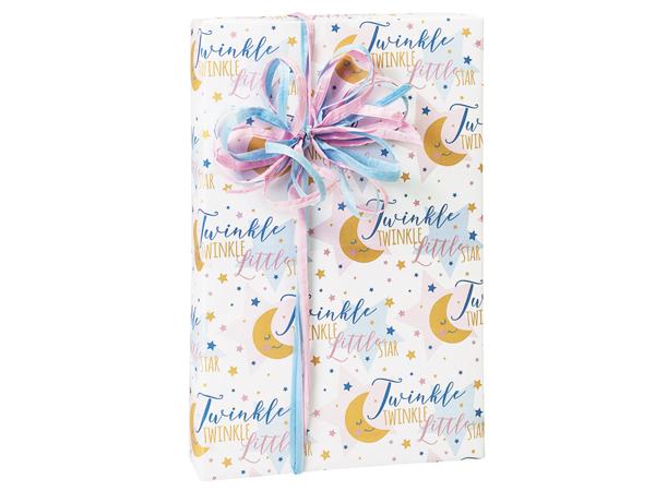 """Twinkle Little Star 24""""x85', Gift Wrap Cutter Box"""