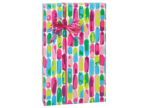 "Painted Gems 24""x85', Gift Wrap Cutter Box"
