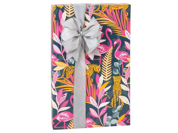"Exotic Jungle 24""x85', Gift Wrap Cutter Box"