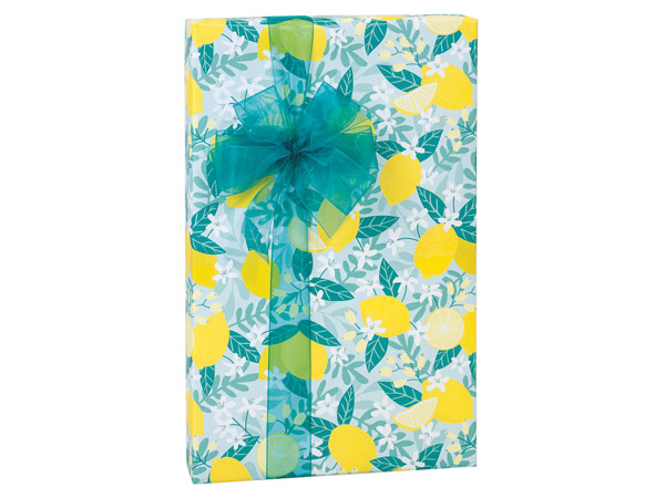 "Lemon Blooms 24""x417', Gift Wrap Counter Roll"