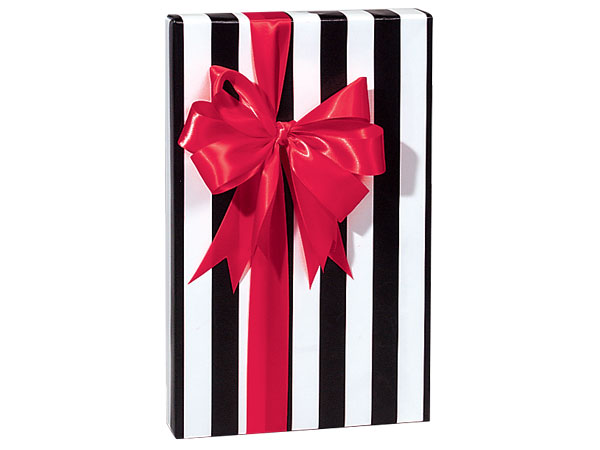 "Domino Alley Stripes 24""x85' Recycled Gift Wrap Roll"