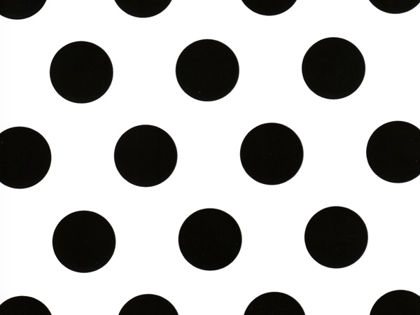 "Domino Alley Dots 24""x85' Roll Gift Wrap"