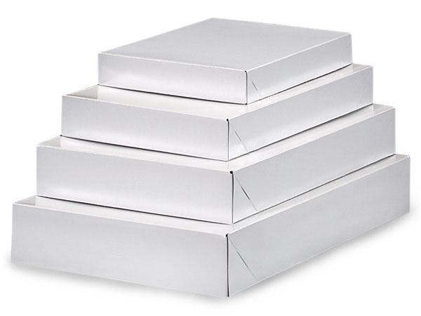 White Gloss Apparel Box Assortment, 100 Pack