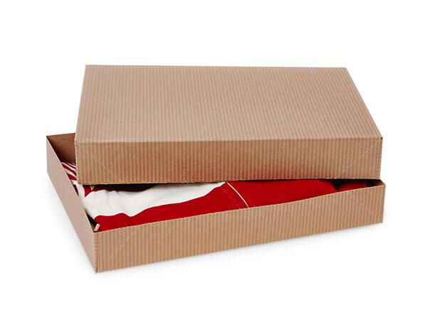 """Brown Kraft 2 Piece Pop Up Apparel Box, 10x7x1.5"""", 100 Pack"""