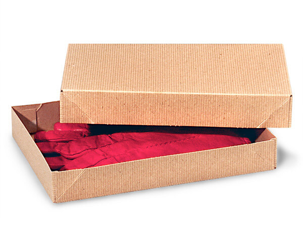 "Brown Kraft 2 Piece Pop Up Apparel Box, 10x7x1.5"", 5 Pack"