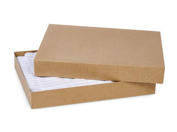 """Brown Kraft 2 Piece Pop Up Apparel Box, 11.5x8.5x1.5"""", 100 Pack"""