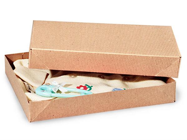 """Brown Kraft 2 Piece Pop Up Apparel Box, 11.5x8.5x1.5"""", 5 Pack"""