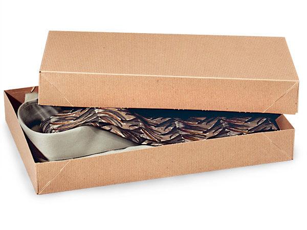 """*Brown Kraft 2 Piece Pop Up Apparel Box, 15x9.5x2"""", 5 Pack"""
