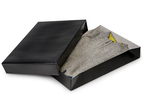 """Black Gloss Apparel 17x11x2-1/2"""" 100% Recycled Gloss Tint - 2 Pc Box"""