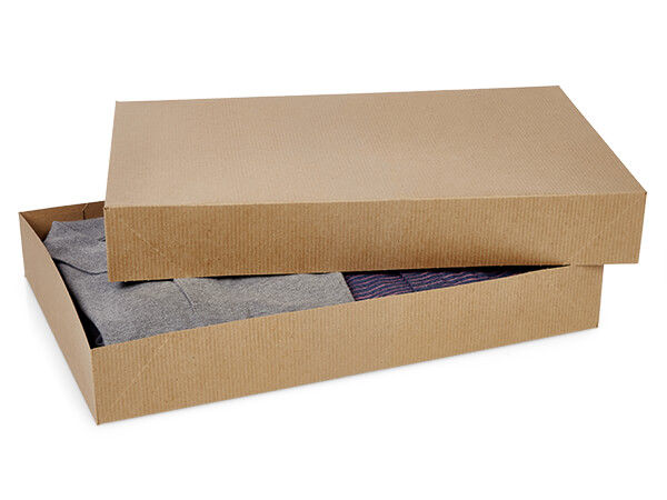 "Brown Kraft 2 Piece Pop Up Apparel Box, 17x11x2.5"", 50 Pack"