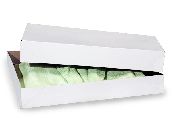"White 2 Piece Pop Up Apparel Box, 19x12x3"", 50 Pack"