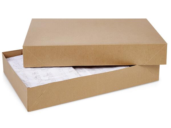"""Brown Kraft 2 Piece Pop Up Apparel Box, 19x12x3"""", 50 Pack"""