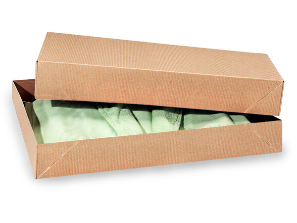 "Brown Kraft 2 Piece Pop Up Apparel Box, 19x12x3"", 5 Pack"