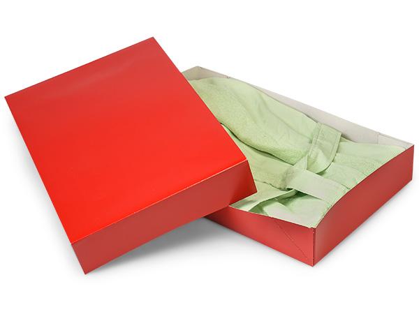 "Red Gloss Apparel 19x12x3"" 100% Recycled Gloss Tint - 2 Pc Box"
