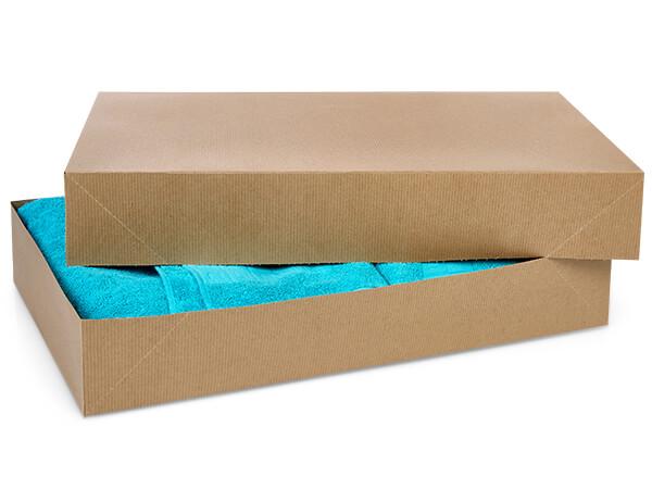 """Brown Kraft 2 Piece Pop Up Apparel Box, 24x14x4"""", 25 Pack"""