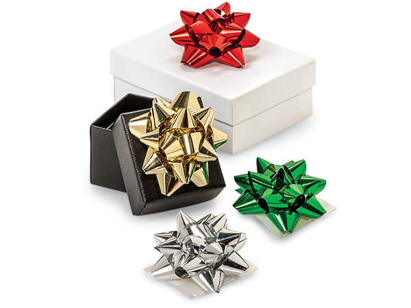 "Metallic 2"" Mini Gift Bow Assortment, 16 Pack"