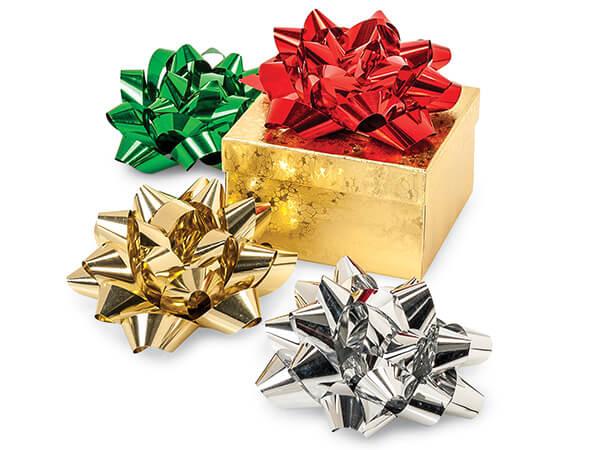 "4"" Metallic Gift Bow Assortment, 50 Pack"