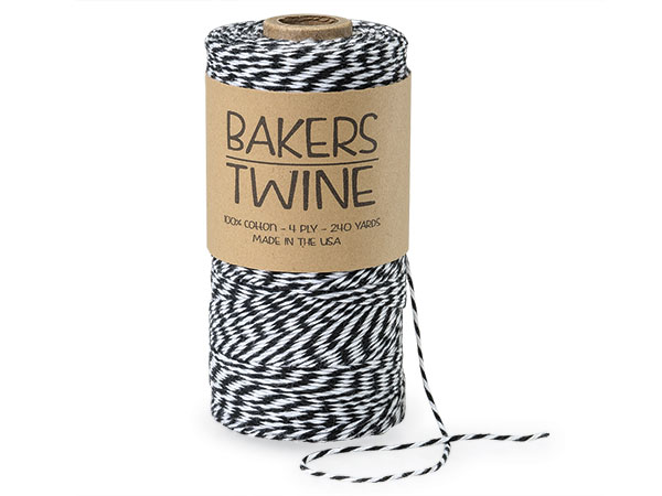 Black and White Baker's Twine, 240 yds