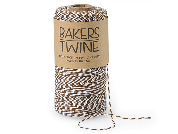 Chocolate Brown and White Baker's Twine, 240 yds