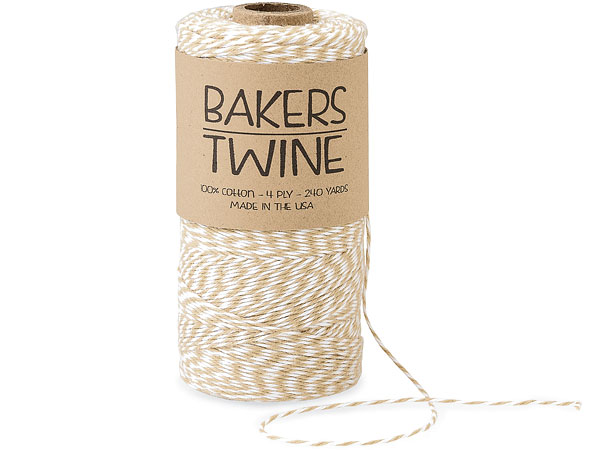 Kraft & White Twine 240 yds 4-ply 100% Cotton Baker's Twine