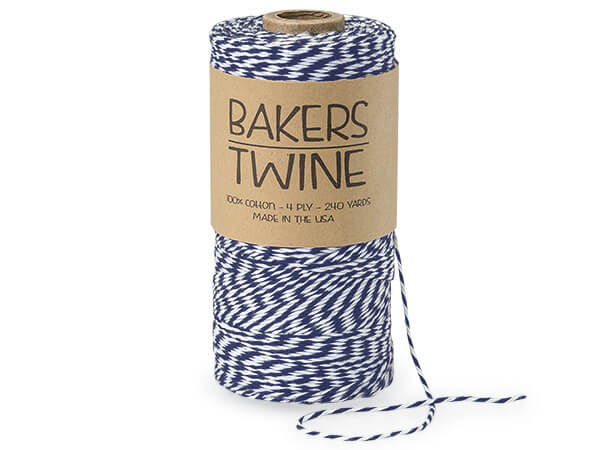 Navy Blue and White Baker's Twine, 240 yds