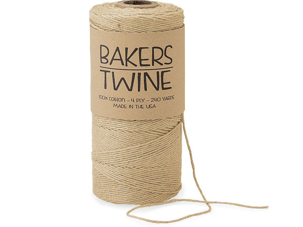 Solid Kraft Twine 240 yds 4-ply 100% Cotton Baker's Twine