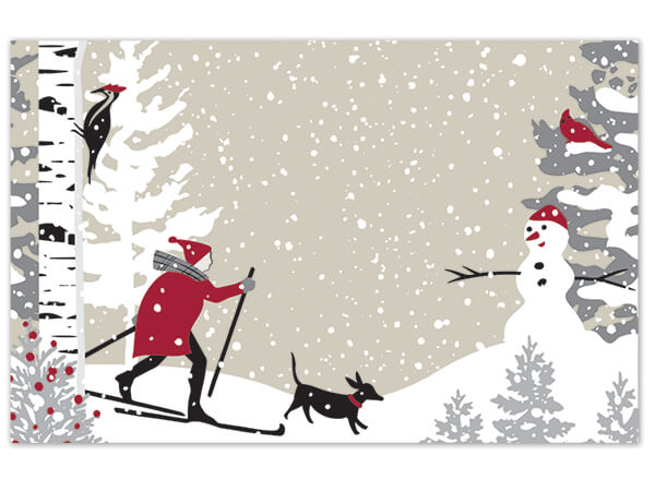 "Winter Snowday Gloss Enclosure Card, 3.5x2.25"", 50 Pack"