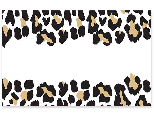 "Leopard Print Gloss Enclosure Card, 3.5x2.25"", 50 Pack"
