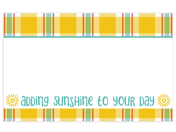 Sunshine Plaid Gloss  Enclosure Card