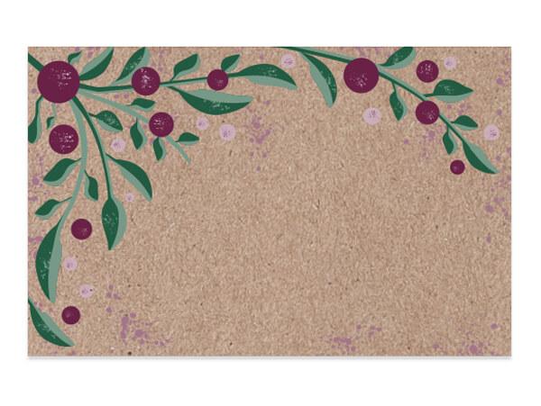 "Tuscan Harvest Kraft Enclosure Card, 3.5x2.25"", 50 Pack"