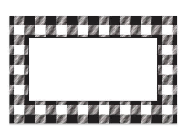 Buffalo Plaid Enclosure Card