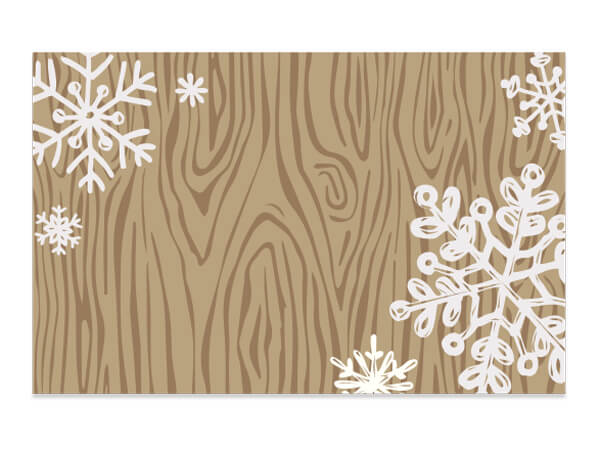 Rustic Snowflakes Enclosure Card