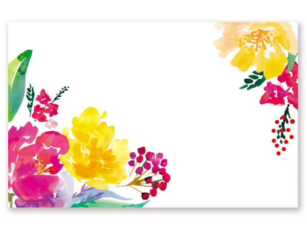 "Watercolor Garden Gloss Enclosure Cards, 3-1/2x2-1/4"", 50 Pack"