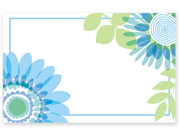 "Ombre Flowers Enclosure Cards, 3-1/2x2-1/4"", 50 Pack"