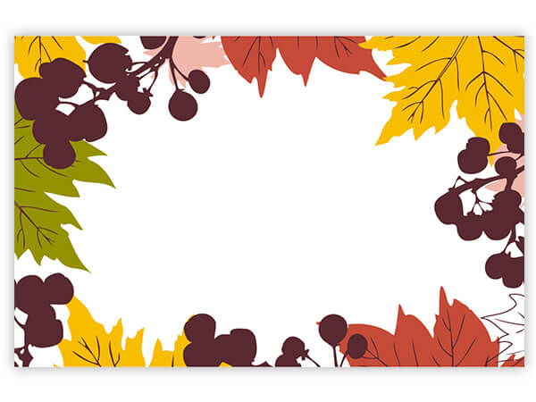 "Falling Leaves Enclosure Gift Card, 3-1/2x2-1/4"", 50 Pack"