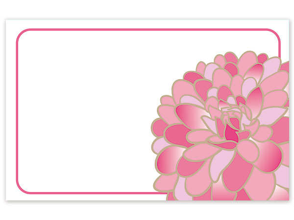 "Gilded Blooms Gloss 3-1/2x2-1/4"" Enclosure Card"