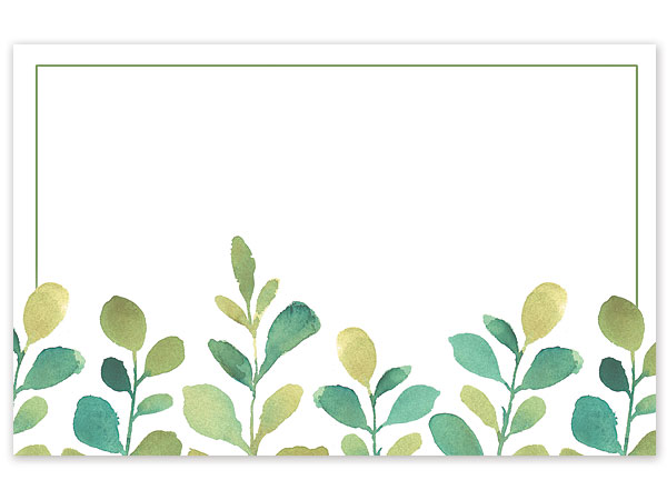 "Watercolor Greenery Enclosure Gift Card, 3.5x2.25"", 50 Pack"