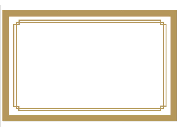 Duets Metallic Gold Enclosure Card