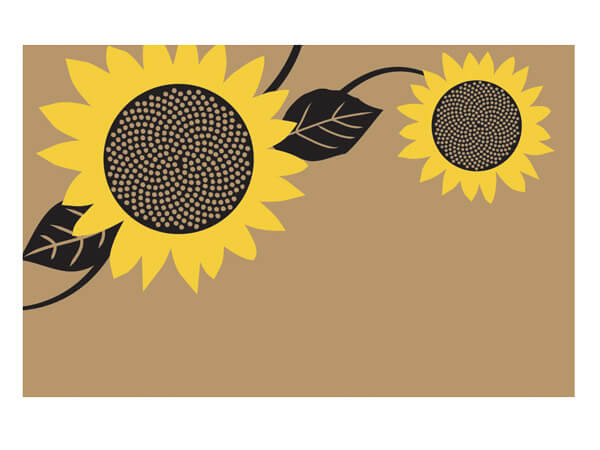 "Sunflower Fields Kraft 3-1/2x2-1/4"" Enclosure Cards"