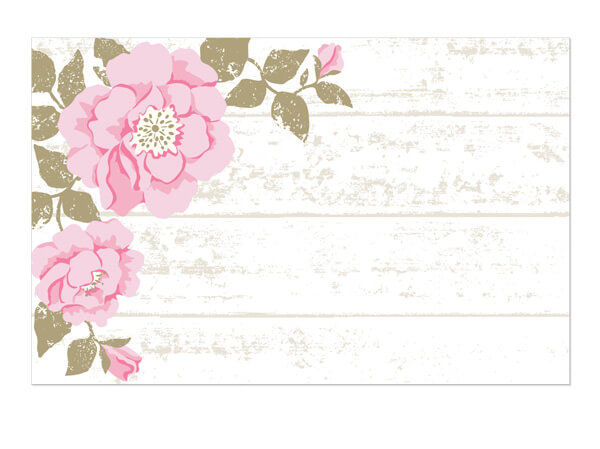 "Cottage Rose Enclosure Gift Card, 3.5x2.25"", 50 Pack"