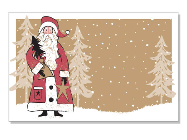 Woodland Santa Enclosure Card