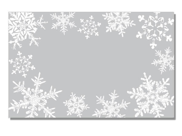 "Silver Snowflakes Enclosure Gift Card, 3-1/2x2-1/4"", 50 Pack"
