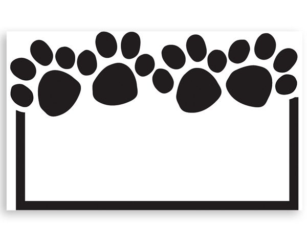 Paw Print 3 12 X 2 14 Enclosure Card Nashville Wraps