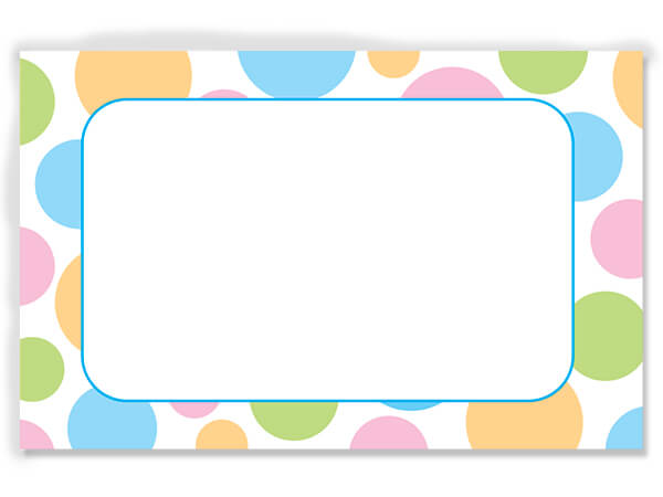 "Pastel Dots 3-1/2"" x 2-1/4"" Enclosure Card"