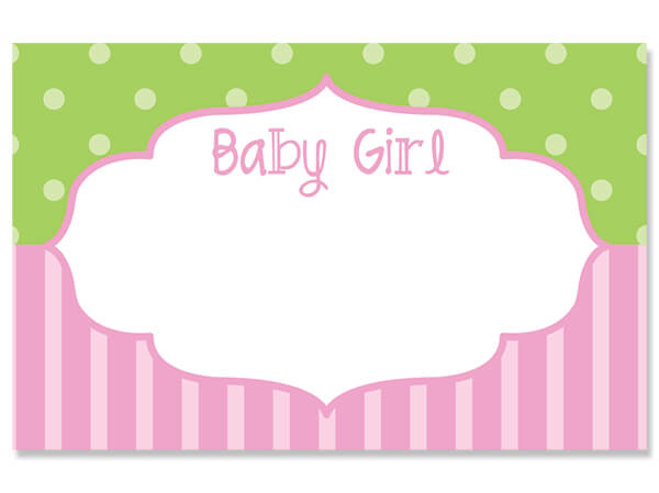 "Baby Girl Frame 3-1/2"" x 2-1/4"" Enclosure Card"