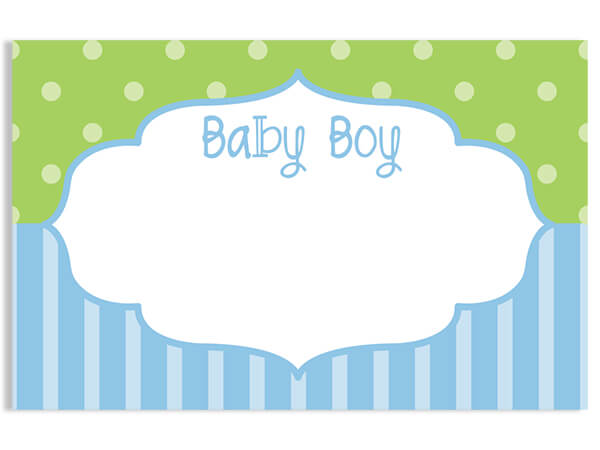 "Baby Boy Frame 3-1/2"" x 2-1/4"" Enclosure Card"